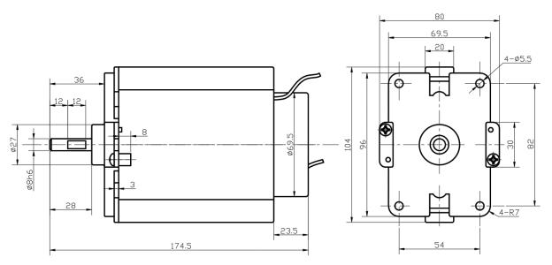 产品型号:hc8050a 产品详情:电刨电机为单相 串激电机,串励电机,经