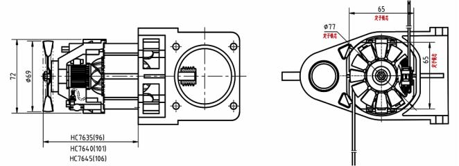 产品详情:此电机为单相 串激电机, 串励电机,经皮带传动,具有体积小
